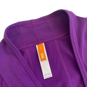 Lucy Tops - Lucy Athletic Perfect Pose Purple Yoga Wrap Top XS